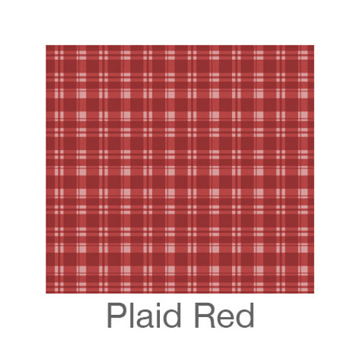 """12""""x12"""" Patterned HTV - Plaid Red"""