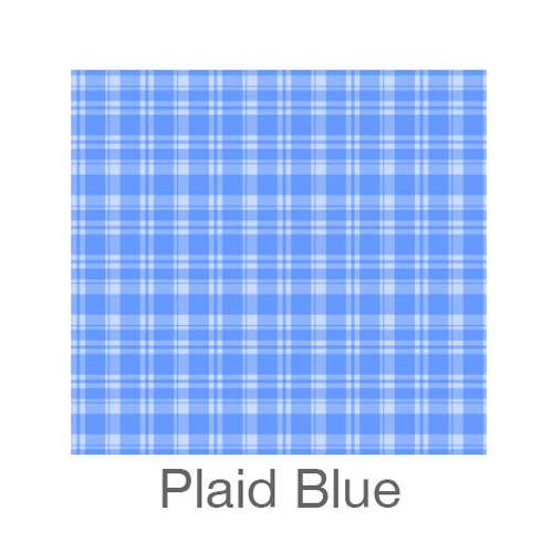 "12""x12"" Patterned HTV - Plaid Blue"