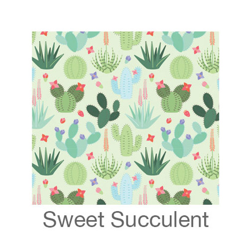 """12""""x12"""" Patterned HTV - Sweet Succulent"""