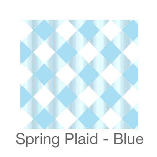"12""x12"" Patterned HTV - Spring Plaid - Blue"