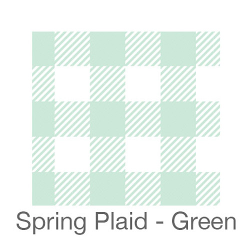 """12""""x12"""" Patterned HTV - Spring Plaid - Green"""