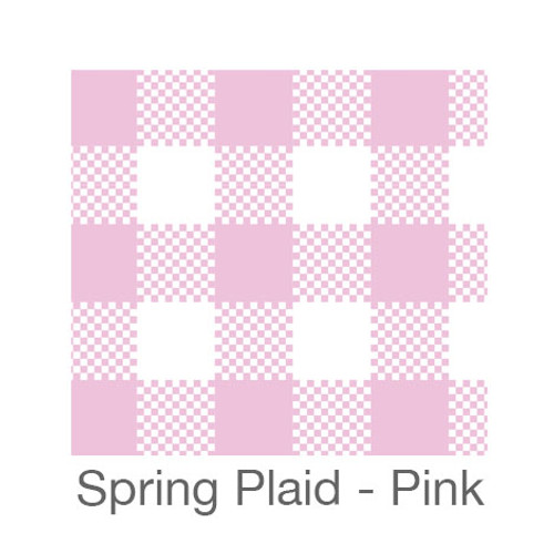 """12""""x12"""" Patterned HTV - Spring Plaid - Pink"""