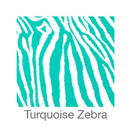 "12""x12"" Patterned HTV - Zebra - Turquoise"