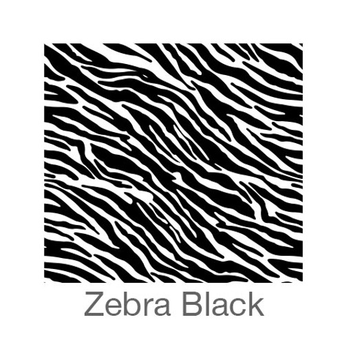 """12""""x12"""" Patterned HTV - Zebra - Black"""