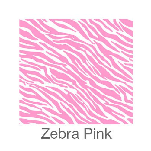 """12""""x12"""" Patterned HTV - Zebra - Pink"""