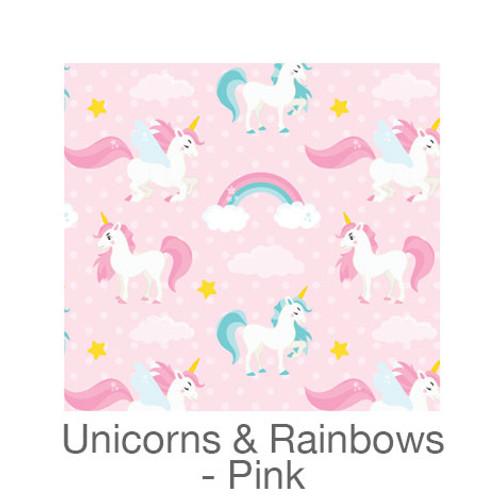"12""x12"" Patterned HTV - Unicorns & Rainbows - Pink"