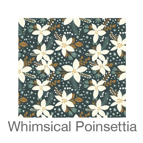 """12""""x12"""" Patterned HTV - Whimsical Poinsettia"""