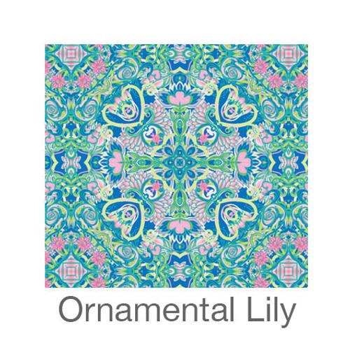 "12""x12"" Patterned HTV - Ornamental Lily"