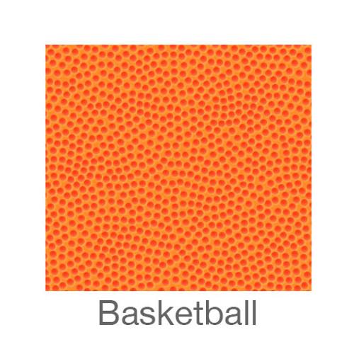 "12""x12"" Permanent Patterned Vinyl - Basketball"