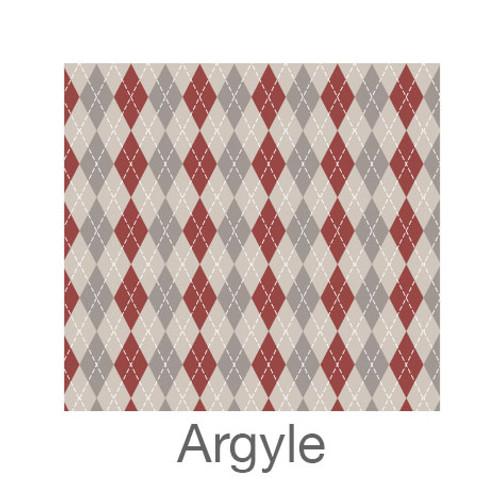 """12""""x12"""" Permanent Patterned Vinyl - Argyle"""