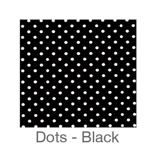 "12""x12"" Permanent Patterned Vinyl - Dots Black"