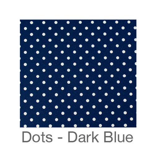 "12""x12"" Permanent Patterned Vinyl - Dots Dark Blue"