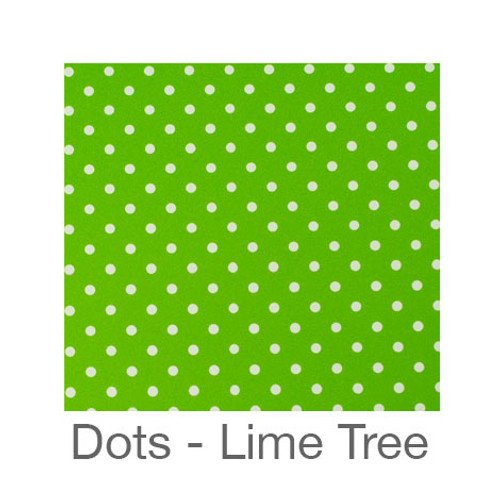 """12""""x12"""" Permanent Patterned Vinyl - Dots Lime Tree"""