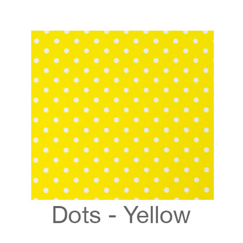 "12""x12"" Permanent Patterned Vinyl - Dots Light Yellow"