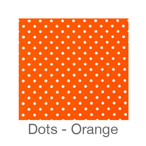 "12""x12"" Permanent Patterned Vinyl - Dots Orange"