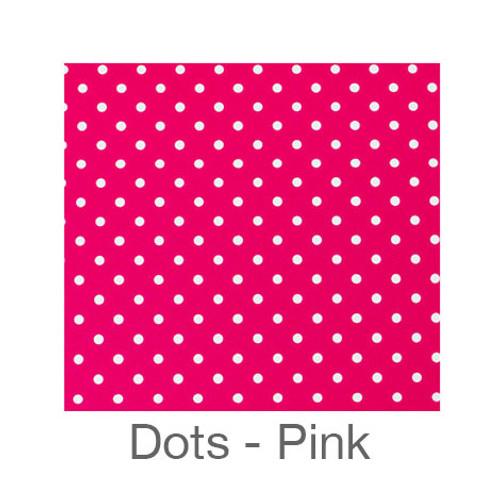 "12""x12"" Permanent Patterned Vinyl - Dots Pink"