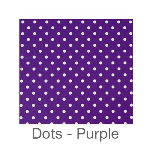 """12""""x12"""" Permanent Patterned Vinyl - Dots Purple"""
