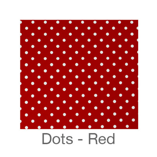 """12""""x12"""" Permanent Patterned Vinyl - Dots Red"""
