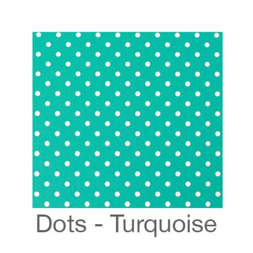 "12""x12"" Permanent Patterned Vinyl - Dots Turquoise"