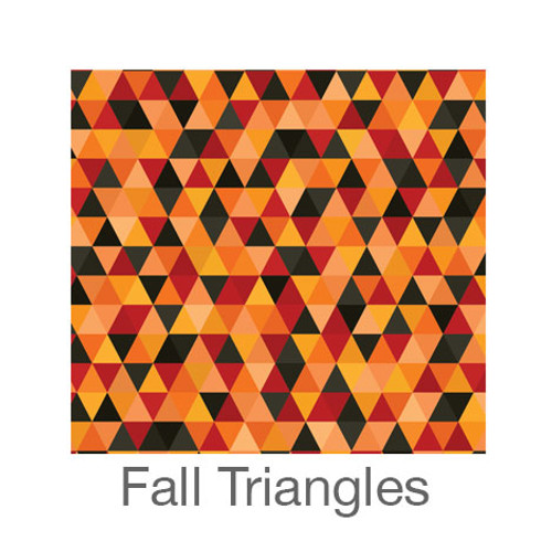 """12""""x12"""" Permanent Patterned Vinyl - Fall Triangles"""