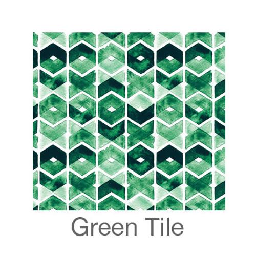 "12""x12"" Permanent Patterned Vinyl - Green Tile"