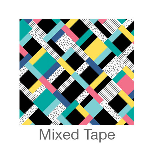 """12""""x12"""" Permanent Patterned Vinyl - Mixed Tape"""