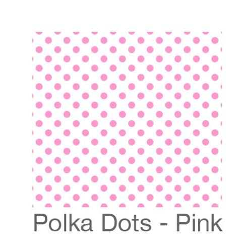 "12""x12"" Permanent Patterned Vinyl - Polka Dots Pink"
