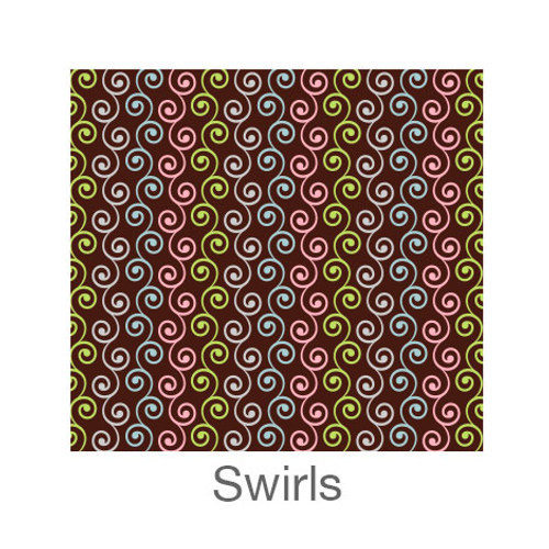 "12""x12"" Permanent Patterned Vinyl - Swirls"
