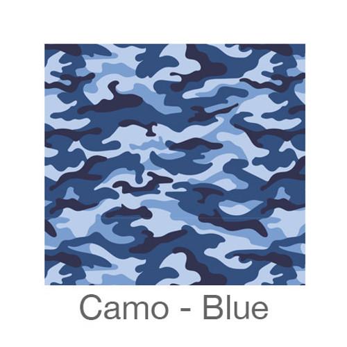 "12""x12"" Permanent Patterned Vinyl - Camo Blues"
