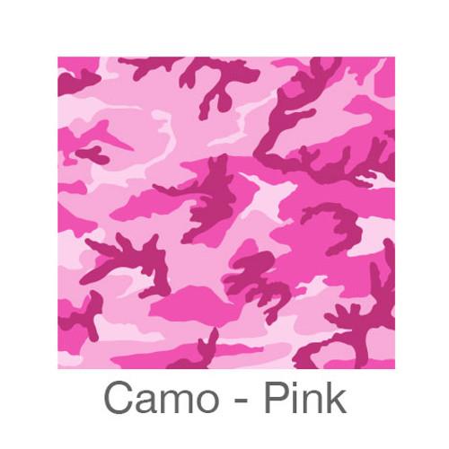 "12""x12"" Permanent Patterned Vinyl - Camo Pink"