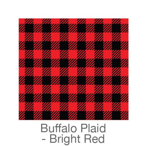 "12""x12"" Permanent Patterned Vinyl - Buffalo Plaid - Bright Red"