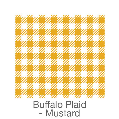 "12""x12"" Permanent Patterned Vinyl - Buffalo Plaid - Mustard/White"