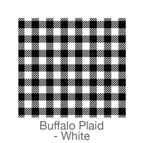 "12""x12"" Permanent Patterned Vinyl - Buffalo Plaid - Black/White"