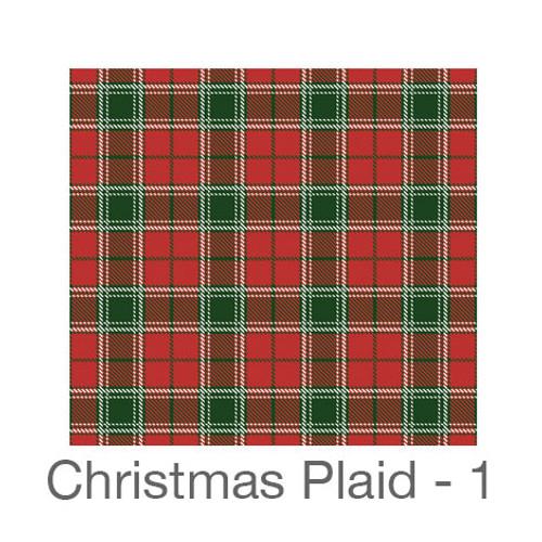 "12""x12"" Permanent Patterned Vinyl - Christmas Plaid 1"