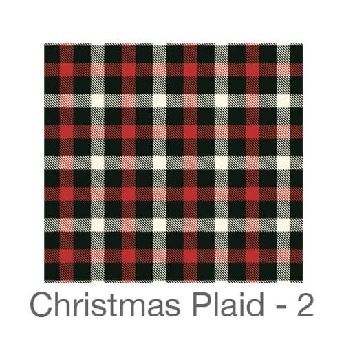 "12""x12"" Permanent Patterned Vinyl - Christmas Plaid 2"