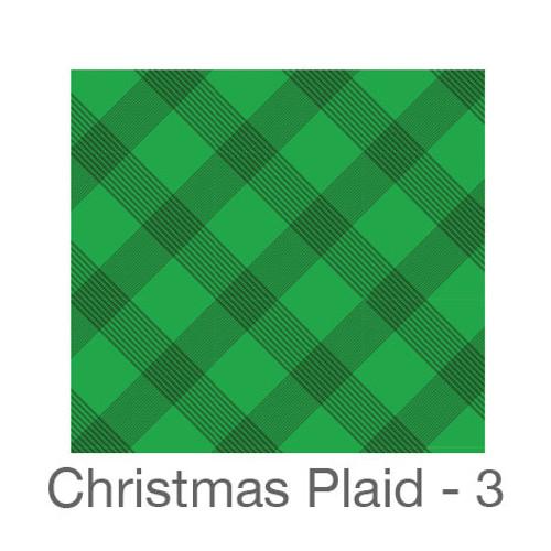 "12""x12"" Permanent Patterned Vinyl - Christmas Plaid 3"