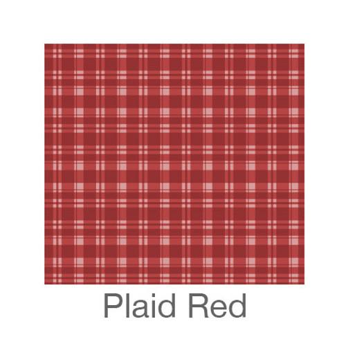 "12""x12"" Permanent Patterned Vinyl - Plaid Red"