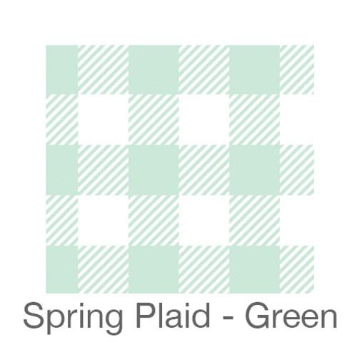 "12""x12"" Permanent Patterned Vinyl - Spring Plaid - Green"