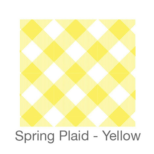 """12""""x12"""" Permanent Patterned Vinyl - Spring Plaid - Yellow"""