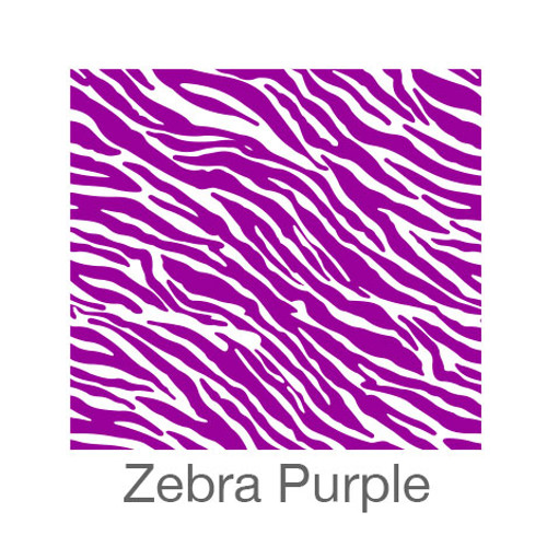 "12""x12"" Permanent Patterned Vinyl - Zebra - Purple"