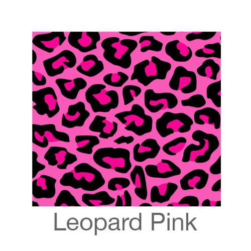 "12""x12"" Permanent Patterned Vinyl - Leopard Pink"