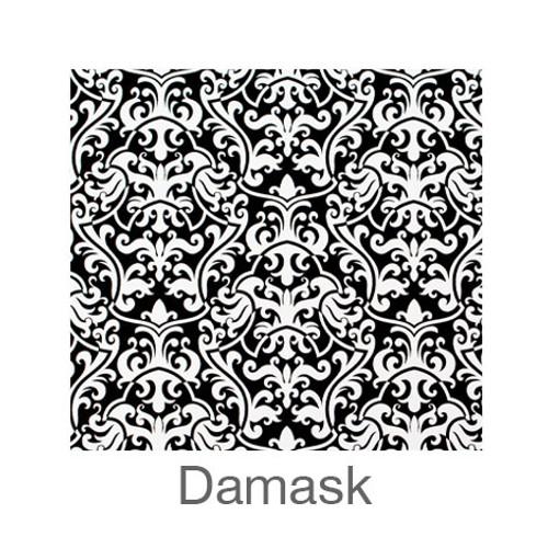 "12""x12"" Permanent Patterned Vinyl - Damask"