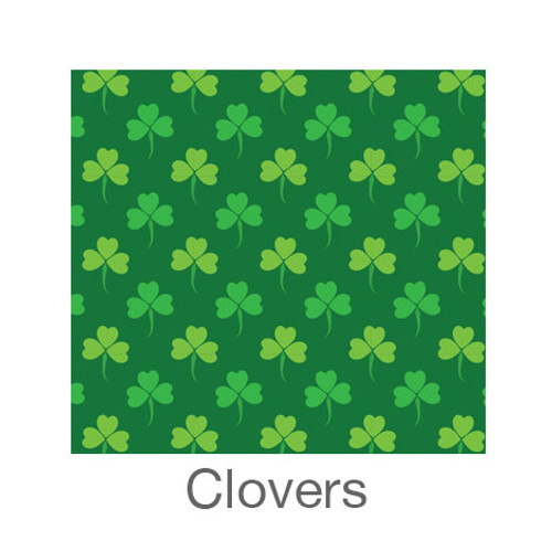 """12""""x12"""" Patterned HTV - Clovers"""