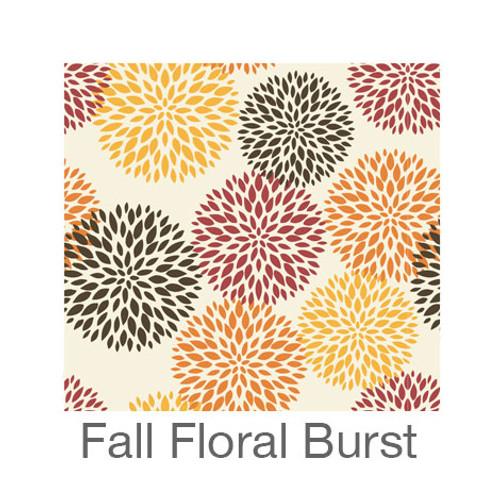 "12""x12"" Permanent Patterned Vinyl - Fall Floral Burst"