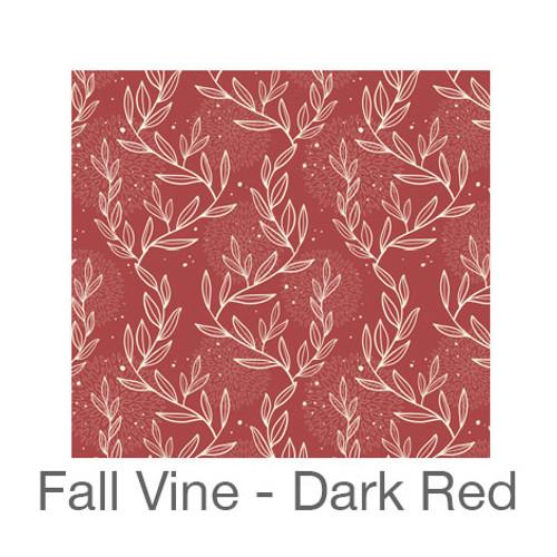 "12""x12"" Permanent Patterned Vinyl - Fall Vine - Dark Red"