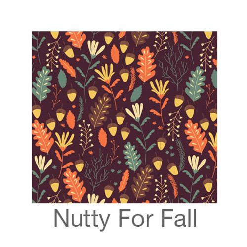 """12""""x12"""" Permanent Patterned Vinyl - Nutty For Fall"""