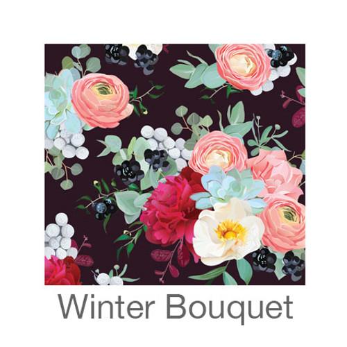 """12""""x12"""" Permanent Patterned Vinyl - Winter Bouquet"""