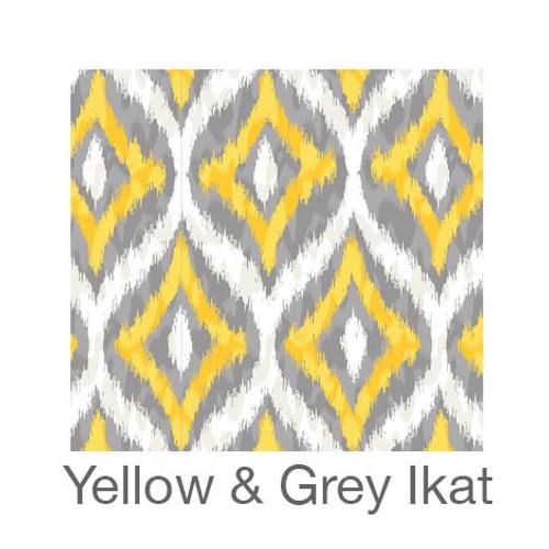 """12""""x12"""" Patterned HTV - Yellow & Grey Ikat"""