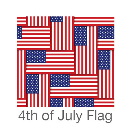 """12""""x12"""" Permanent Patterned Vinyl - 4th of July Flag"""