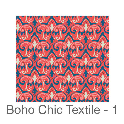 """12""""x12"""" Permanent Patterned Vinyl - Boho Chic Textile 1"""